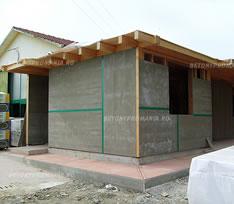 Betonyp folosit la placari case din lemn